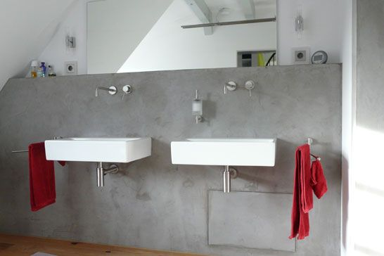 Dusche Platten Wand : 1000+ images about Beton on Pinterest Cement Floors, Towel Hooks and