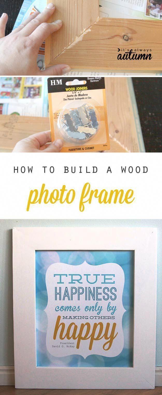 DIY Wood Frame Holzbearbeitungsprojekte für Kinder #woodworkingforkids