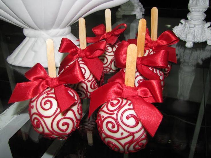 Maçãs de Chocolate - Fonte: Doce Estillo