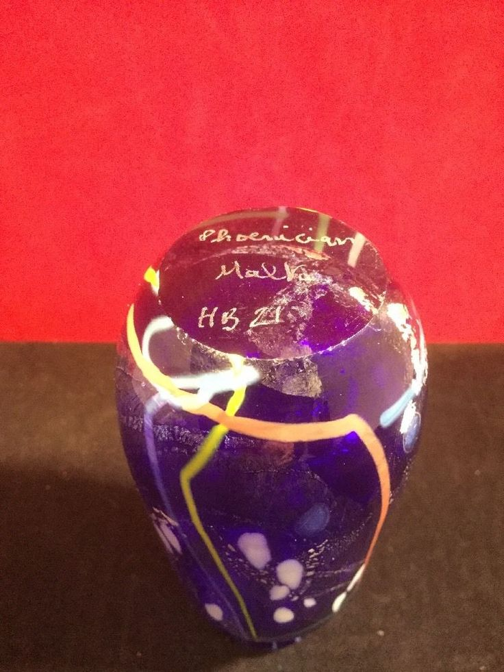 Nice signed Phoenician vase, produced in Malta. | eBay!