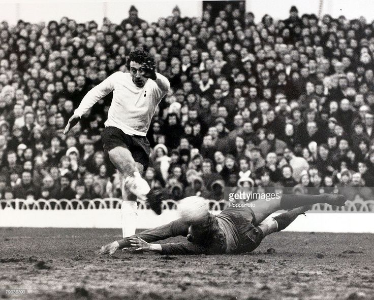29th January 1972. Yet again another clanger from Gary Sprake as his goal kick lands to Tottenham Hotspur striker Martin Chivers who shoots past the Leeds United goalkeeper to score the only goal of the game, at White Hart Lane.