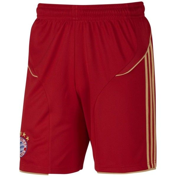FC Bayern Munich Home Shorts (140 BRL) ❤ liked on Polyvore featuring men's fashion, men's clothing, men's activewear, men's activewear shorts and adidas