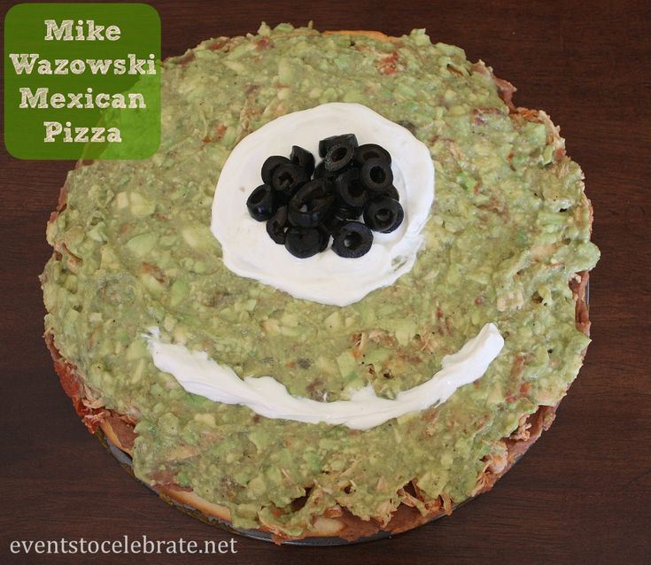 Monsters University Party - Mike Wazowski Mexican Pizza