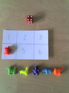 Preschool game - numbers bingo So easy, could call numbers out in Spanish too!