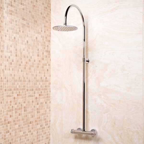 EcoBar Rolando Riser Pack, priced at £143.95. EcoBar Rolando Riser Pack thermostatic shower valve with 200mm round shower rose. Order now at - http://www.taps.co.uk/ecobar-rolando-riser-pack.html