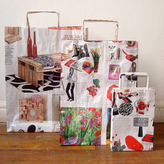 Cómo hacer bolsas a partir de papel de revistas - Blogs lanacion.com