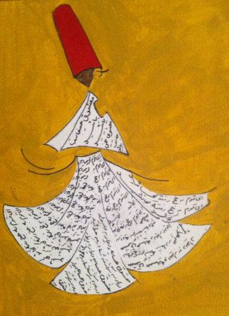 SUFI original painting by touchbymajan on Etsy, $60.00