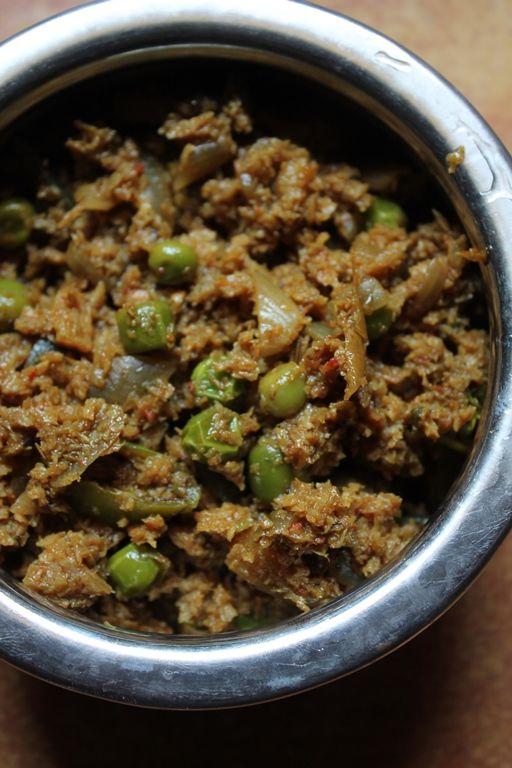 Soya Kheema Curry Recipe / Soya Kheema Matar Recipe / Vegetarian Kheema Curry Recipe / Veg Kheema Matar Recipe