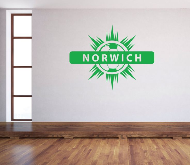 A personal favourite from my Etsy shop https://www.etsy.com/uk/listing/485262600/norwich-football-sticker-wall