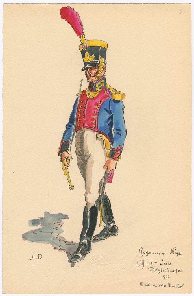 Naples; Royal Guard, Hussars, Hussar, Tenue de Campagne, 1812