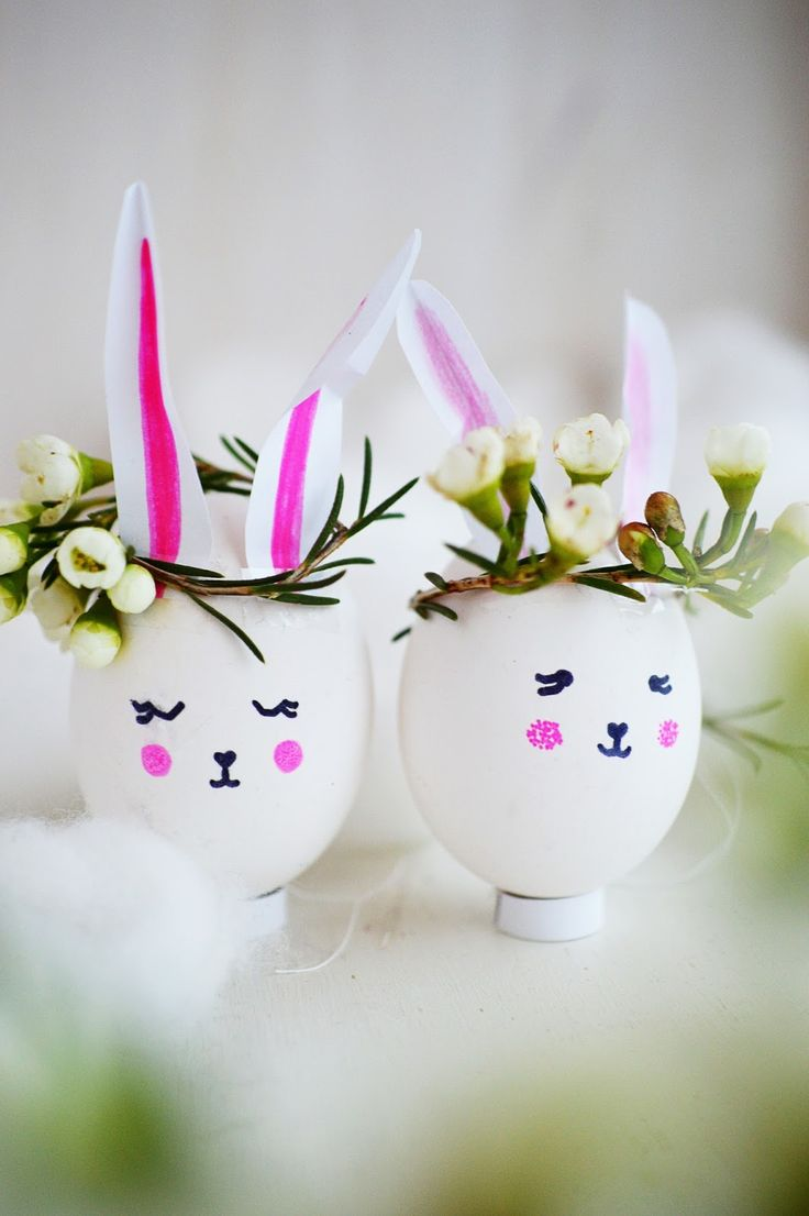 DIY Crowned Bunny Easter Eggs