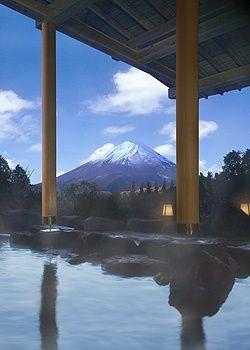 Hot spring in Hakone, Japan