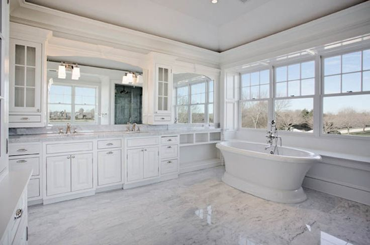Master Bath Carrera Marble Floor Tile In Place Of Porcelain Tile White Tub Home Decor Pinterest Marble Floor Porcelain Tile And Tubs