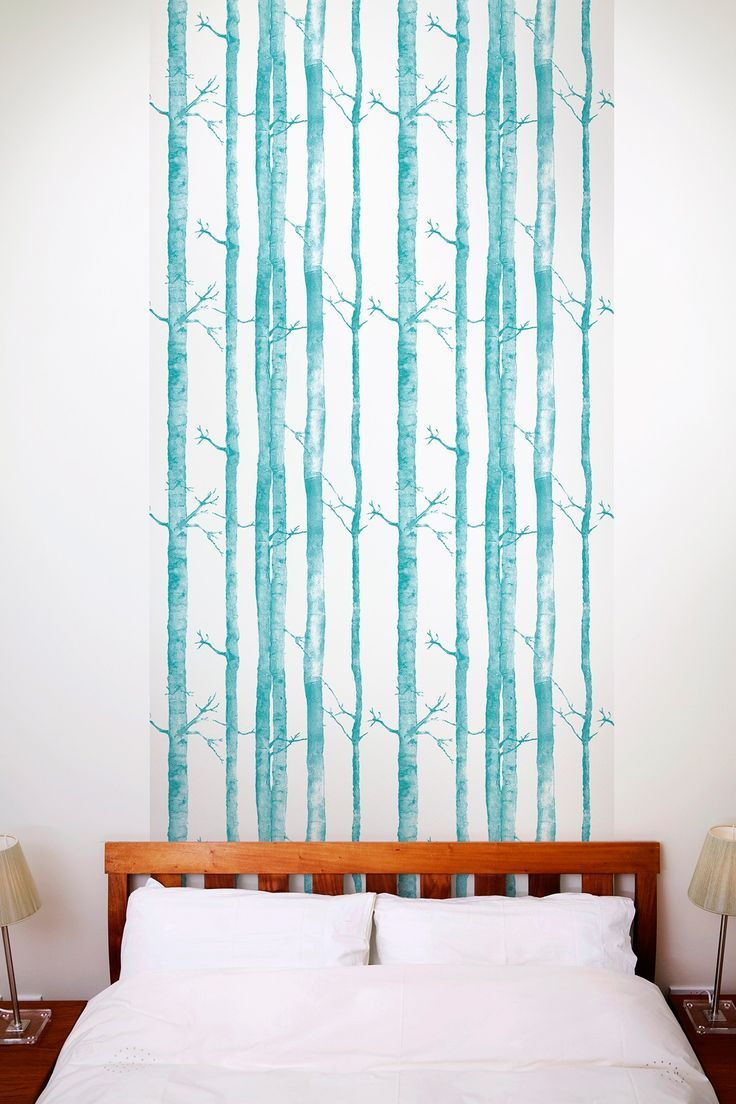 Aspen Trees Removable Wall Decal   Turquoise Part 60