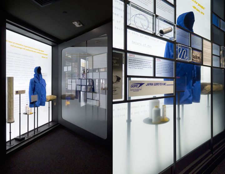 W.L. Gore & Associates History Exhibit by Lynn Paik Design, Newark Delaware museum exhibit design