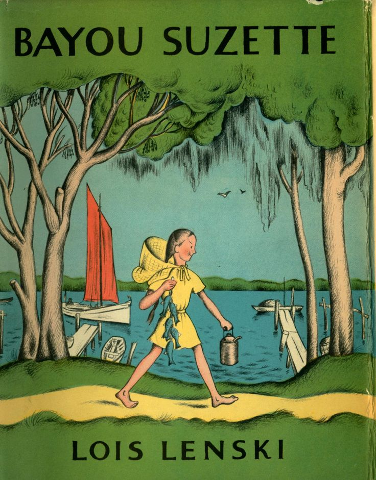Bayou Suzette. Stokes, 1943.  Suzette, a loveable young white girl, and Marteel, an orphan Indian girl who comes to live with her family, become constant and close friends. The bayou country of Louisiana serves as a colorful backdrop for the girls' lively adventures which include surviving a major flood in the Louisiana bayou country.