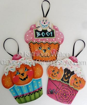 The Decorative Painting Store: Halloween Cupcake Ornaments Pattern - Kathleen Whiton - PDF DOWNLOAD, Newly Added Painting Patterns / e-Patterns