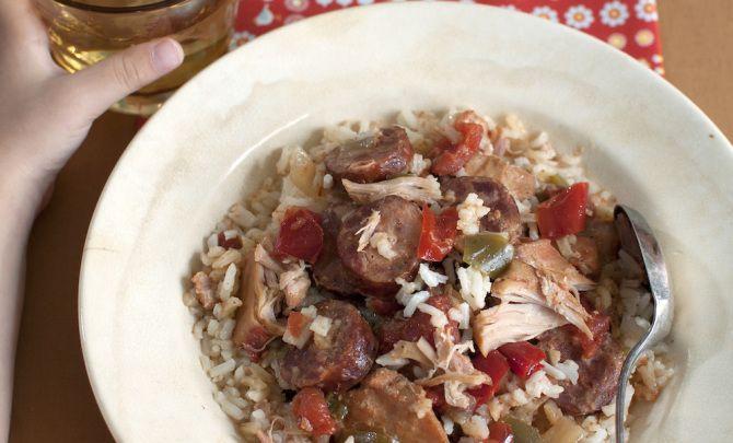 Slow Cooker Chicken and Sausage Jambalaya Recipe - Relish