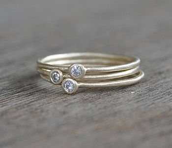 Gold Moissanite Rings.