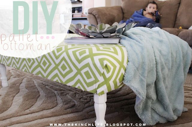 THE KINCH LIFE: DIY: Pallet Ottoman - this one has the best instructions