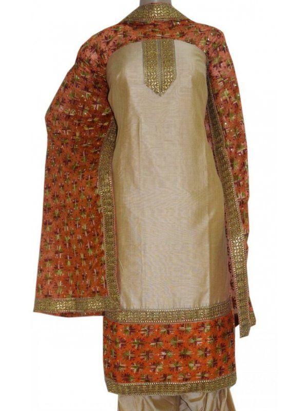 Golden Designer Phulkari Suit Cotton Silk buy Online  - Phulkari Designer Suit     - Unstitched Cotton SIlk Cloth for Salwar & Kameej 5 Meters    - Dupatta Semi Chiffon 2.5 Meters    - Soft wash recomended   Shop Now : https://www.punnjab.com/golden-beige-designer-phulkari-suit-cotton-silk-jsdm1001