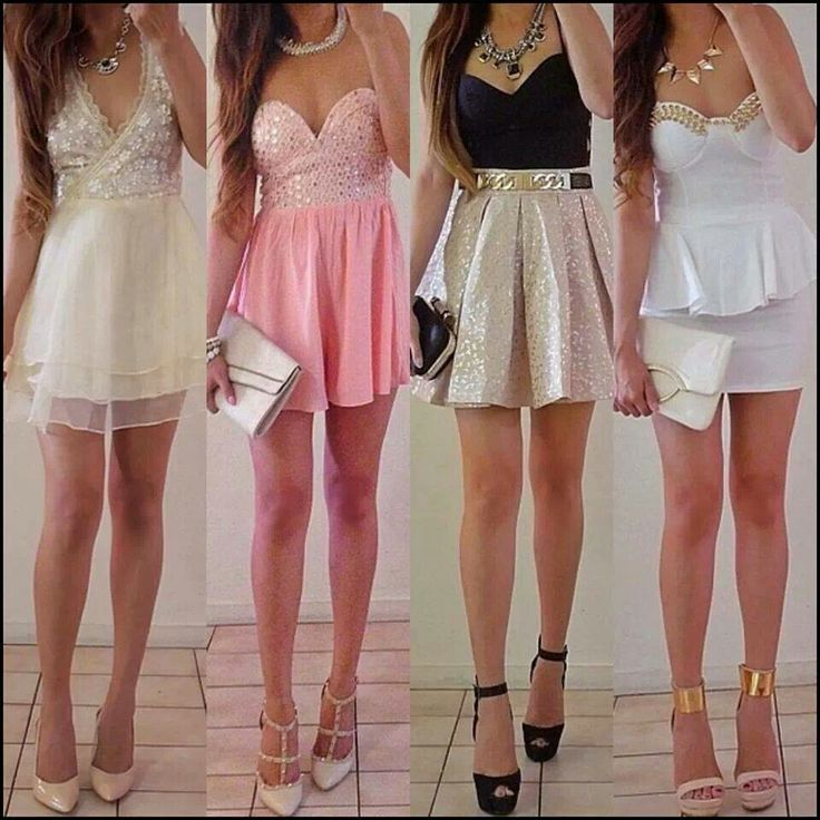 Pink and White Outfuts