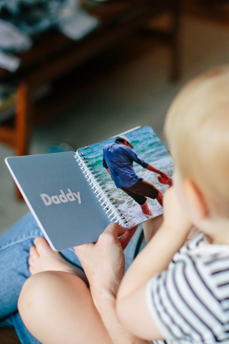 Personalized photo books for babies - cute way to help them learn words and identify loved ones