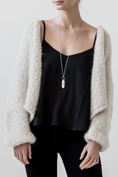 Mia Hand Knit Suri Alpaca Cardigan – Sien + Co