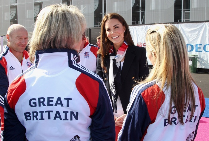 Kate meeting with Great Britain Olympic hockey team. Olympics 2012, london, England