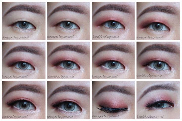 Pictorial peach eye makeup on monolid eyes, using makeup revolution new trals vs neutrals palette