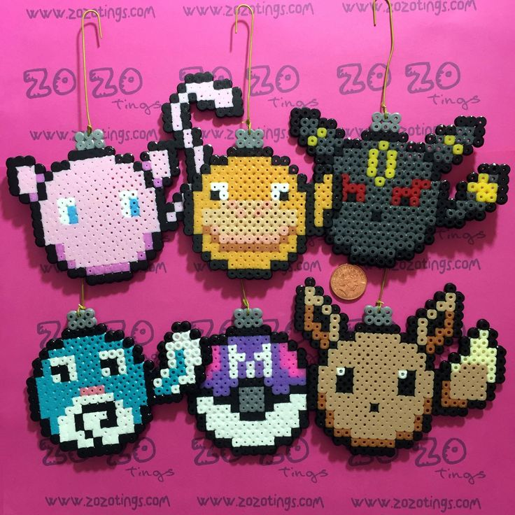 Zo Zo Tings - Pokemon Set 2 Christmas Pixel Baubles