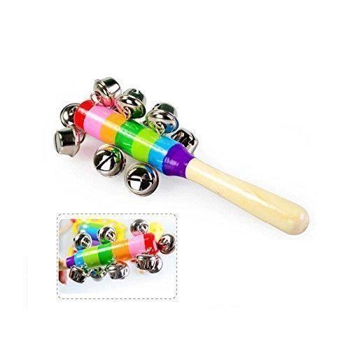 Oferta: 3.99€. Comprar Ofertas de MMRM bebé Arco iris del cabrito actividad madera de Campanas Juguetes Sonido Sonajero Instrumento Musical del Campanilla jugu barato. ¡Mira las ofertas!