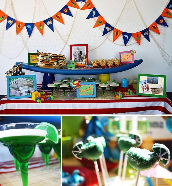 jimmy buffett themed birthday party.