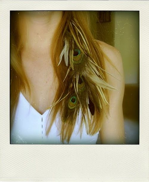 looks so nice in blonde hair! | I ♥ feathers | Pinterest | Peacocks ...