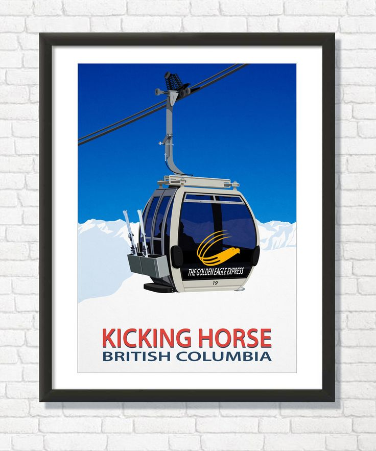 Excited to share the latest addition to my #etsy shop: Kicking Horse Ski Resort ,Canada Wall Art Poster http://etsy.me/2F71e5U #art #print #digital #white #blue #kickinghorse #canada #skikickinghorse #kickinghorseprint