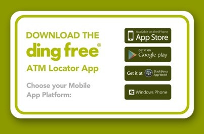 New smartphone app makes locating ding free® credit union ATMs a snap