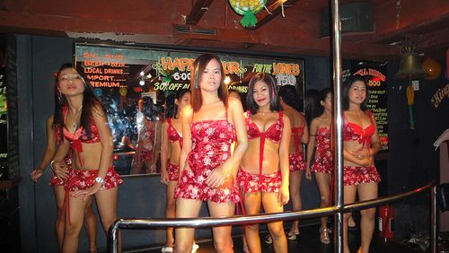 Dancers At The Voodoo Bar In Barrio Barretto Subic