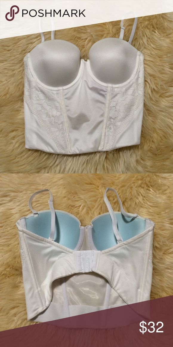Betsey Johnson Wedding Bra Only used once! Great condition. Works with open back wedding dress. I'm 34B but it fits me perfect so I think the under bust runs a bit larger than the size it shows. Betsey Johnson Intimates & Sleepwear Bras