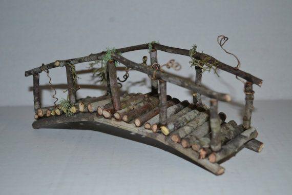 Fairy Garden Bridge miniature mini terrarium by SnarlingBunny