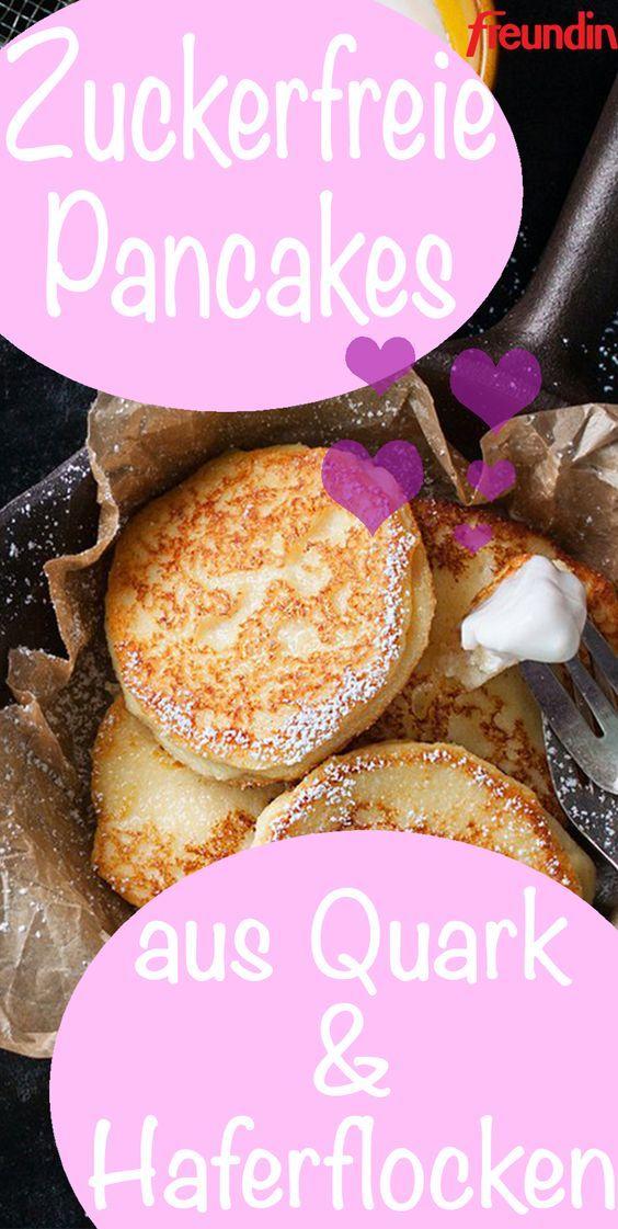 Rezept: Zuckerfreie Pfannkuchen aus Quark und Haferflocken   – Essen