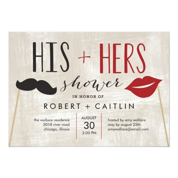 His and Hers Couple Shower Invitation                                                                                                                                                                                 More