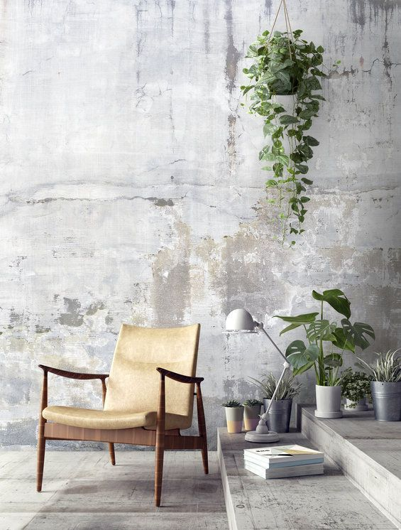 Weathered Concrete Wall Wallpaper For The Wall Design And Ideas Wallpaper For The Wall Design And Ideas Vegger Hjem Stue
