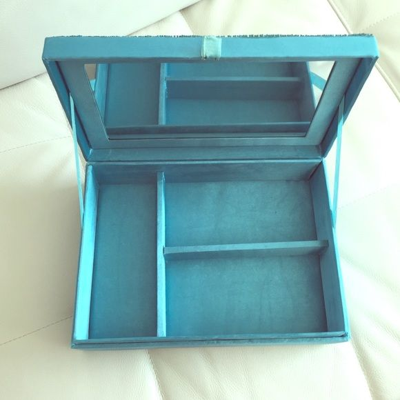 Jewelry Box Aqua Blue with hand made details jewelry box. Store jewelry in a decorative box ! Jewelry