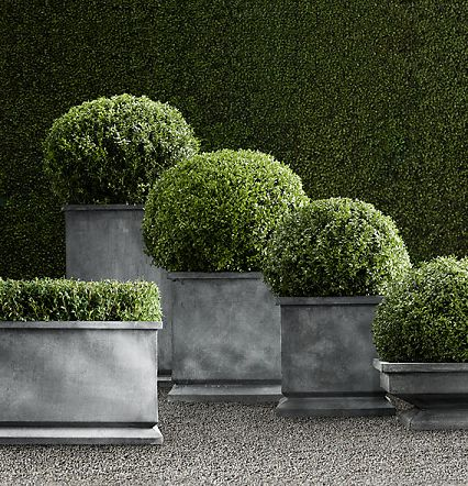 restoration hardware zinc footed planters