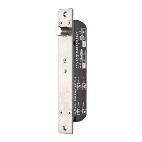 Bolt electric incastrat YB-700B(LED). CARACTERISTICILE BOLTULUI ELECTRIC INCASTRAT YB-700B(LED) YB-700B(LED) este un bolt electric incastrabil ce se monteaza incastrat la usi din lemn, metal, termopan, sticla, usi anti-foc.  Poate fi utilizat in sistemele de control acces  Consum: Actionare 950mA/12Vcc, Standby 150mA/12Vcc Dimensiuni: Bolt: 205x25x28 mm