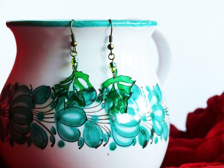 Maple leaf earrings by ARTinsSK on Etsy