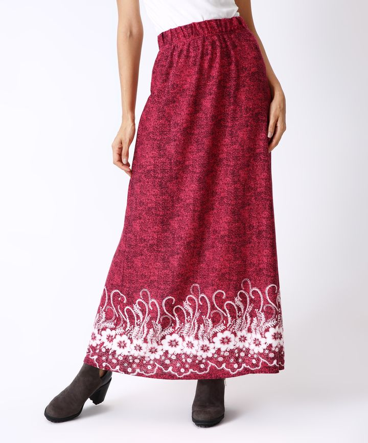 Burgundy & White Floral Maxi Skirt. Maxi skirt fashions. I'm an affiliate marketer. When you click on a link or buy from the retailer, I earn a commission.