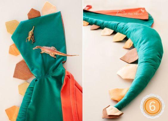 creaciones y tutoriales: Disfraz de dinosaurio, de Tea on the moon Más