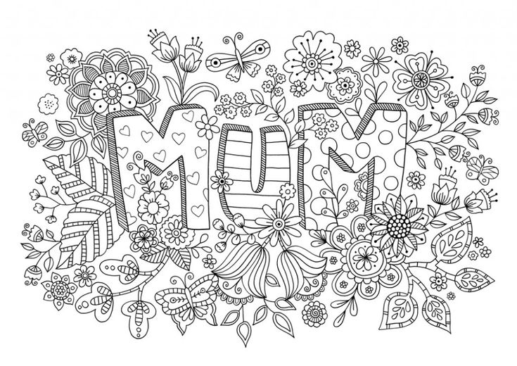 Free Mother's Day Colouring Download #adultcolouring #freedownload #mum #mothersday