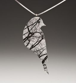 jewelry made from shrinky dink plastic.